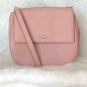 ⭐️Kate Spade Light Pink Leather Crossbody/ Clutch